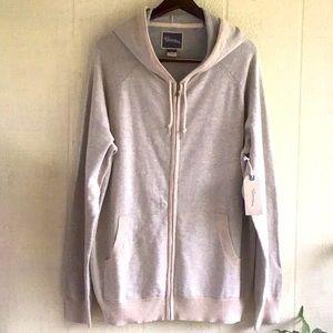 Men's knit zip up hoodie jacket sweater